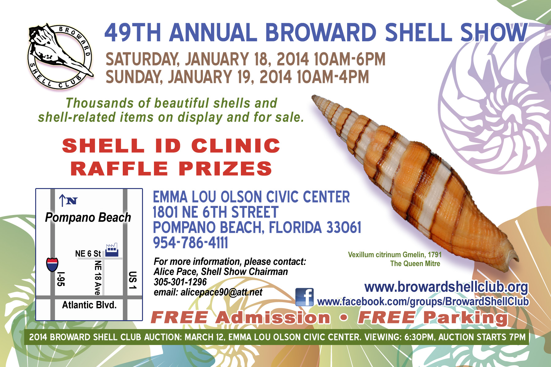 2014 SHELL SHOW SET FOR JANUARY 18 & 19 AT EMMA LOU OLSON CIVIC CENTER